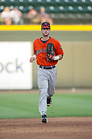 Buies Creek Astros right fielder Kyle Tucker (30) jogs off the field between innings of the game against the Winston-Salem Dash at BB&T Ballpark on April 15, 2017 in Winston-Salem, North Carolina.  The Astros defeated the Dash 13-6.  (Brian Westerholt/Four Seam Images)