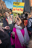 Tulip Sidiq MP at a rally in West Hampstead, London, to demand the release of her constituent Nazanin Zaghari-Ratcliffe from prison in Iran.