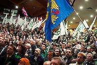 Vicenza: militanti della Lega Nord durante la seduta del cosiddetto parlamento della Padania alla fiera di Vicenza