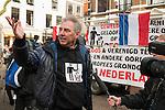 20170304,  Utrecht, PEGIDA demonstratie op Mariaplaats.pegida Nederland voorman Edwin Wagensveld <br /> foto Michael Kooren