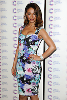 Amelle Berrabah arriving at James' Jog On To Cancer Event, Kensington Roof Gardens, London. 09/04/2014 Picture by: Alexandra Glen / Featureflash