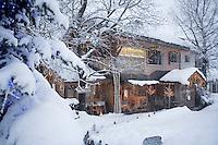"""Europe/France/Rhone-Alpes/73/Savoie/St-Marcel: Hotel-restaurant """"La Bouitte""""   un jour d'hiver"""