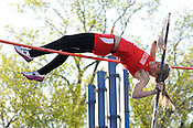 "Sussex Hamilton's Shannon Burke clolely clears 10'6"" during the pole vault competition at the Greater Metro Conference meet at Quad Park in Milwaukee on Tuesday, May 17, 2011. Ernie Mastroianni photo."