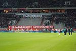11.03.2019, Merkur Spielarena, Duesseldorf , GER, 1. FBL,  Fortuna Duesseldorf vs. Eintracht Frankfurt,<br />  <br /> DFL regulations prohibit any use of photographs as image sequences and/or quasi-video<br /> <br /> im Bild / picture shows: <br /> die Duesseldorfer UltrasFans in der Kurve dem Spiel fern aus Protest wegen der Anfangzeiten<br /> <br /> Foto &copy; nordphoto / Meuter
