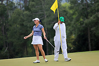 Jennifer Kupcho (USA) on the 18th green during the final  round at the Augusta National Womans Amateur 2019, Augusta National, Augusta, Georgia, USA. 06/04/2019.<br /> Picture Fran Caffrey / Golffile.ie<br /> <br /> All photo usage must carry mandatory copyright credit (&copy; Golffile | Fran Caffrey)