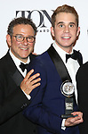 Michael Greif and Ben Platt poses at the 71st Annual Tony Awards, in the press room at Radio City Music Hall on June 11, 2017 in New York City.