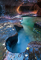 The Subway. Left Fork of North Creek. Zion National Park, Utah.