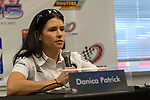 30 May 2008: Danica Patrick (USA) at a press conference prior to the ABC Supply Company Inc. AJ Foyt 225 IndyCar race at the Milwaukee Mile, West Allis, Wisconsin.