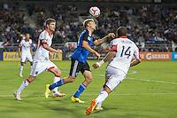 Santa Clara, California - July 11, 2014: San Jose Earthquakes face off against D.C. United at Buck Shaw Stadium on Friday.