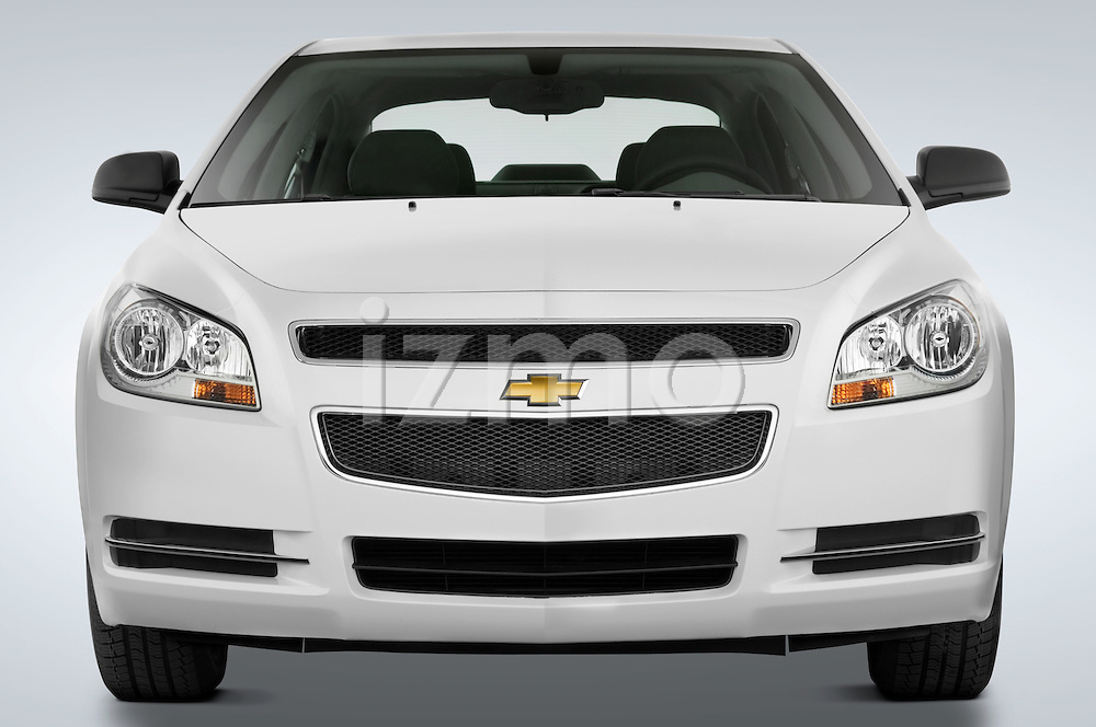 Straight front view of a 2008 Chevrolet Malibu Sedan
