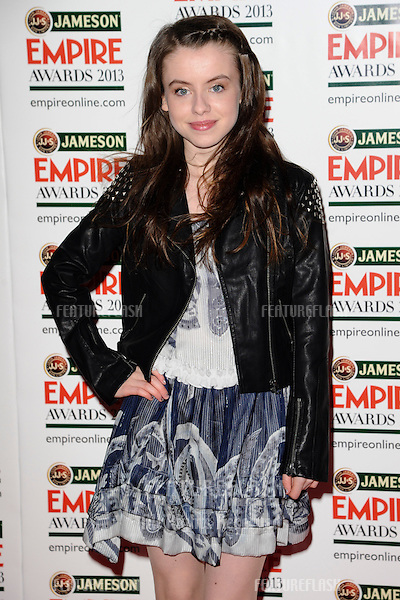 Rosie Day arrives for the Empire Film Awards 2013 at the Grosvenor House Hotel, London. 24/03/2013 Picture by: Steve Vas / Featureflash