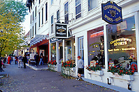 Cooperstown, New York, NY, Shops along Main Street in downtown Cooperstown, Home of Baseball, in the fall.