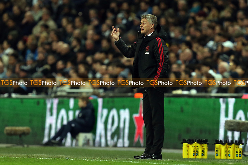Manchester United manager Ole Gunnar Solskjaer during Tottenham Hotspur vs Manchester United, Premier League Football at Wembley Stadium on 13th January 2019