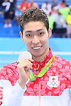 Kosuke Hagino (JPN), <br /> AUGUST 11, 2016 - Swimming : <br /> Men's 200m Individual Medley Medal Ceremony  <br /> at Olympic Aquatics Stadium <br /> during the Rio 2016 Olympic Games in Rio de Janeiro, Brazil. <br /> (Photo by Yohei Osada/AFLO SPORT)