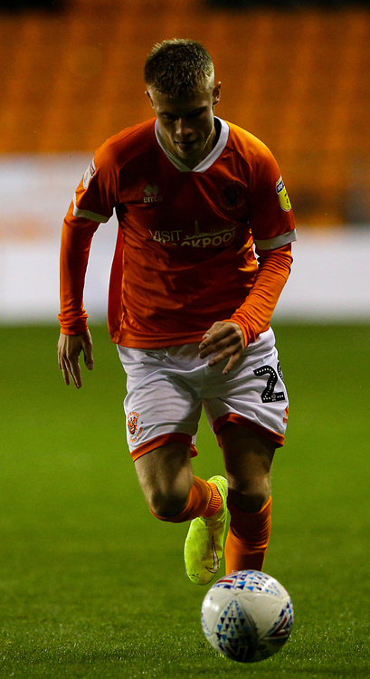 Blackpool's Calum MacDonald<br /> <br /> Photographer Alex Dodd/CameraSport<br /> <br /> EFL Leasing.com Trophy - Northern Section - Group G - Blackpool v Morecambe - Tuesday 3rd September 2019 - Bloomfield Road - Blackpool<br />  <br /> World Copyright © 2018 CameraSport. All rights reserved. 43 Linden Ave. Countesthorpe. Leicester. England. LE8 5PG - Tel: +44 (0) 116 277 4147 - admin@camerasport.com - www.camerasport.com