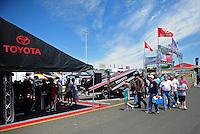 Jun. 2, 2012; Englishtown, NJ, USA: NHRA Toyota display during qualifying for the Supernationals at Raceway Park. Mandatory Credit: Mark J. Rebilas-