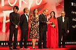 Members of the International Competition Jury, Masatoshi Nagase, Martin Provost, Victoria Jones, Tommy Lee Jones, Zhao Wei  Reza Mirkarimi appears on the opening red carpet for The 30th Tokyo International Film Festival in Roppongi on October 25th, 2017, in Tokyo, Japan. The festival runs from October 25th to November 3rd at venues in Tokyo. (Photo by Michael Steinebach/AFLO)