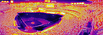 8 September 2014: A Thermograph image of Nationals Park taken prior to an approaching weather disturbance which arrived shortly after a game against the Philadelphia Phillies at Nationals Park in Washington, DC. The Nationals fell to the Phillies 3-1 in the second game of their 3-game series. Mandatory Credit: Ed Wolfstein Photo