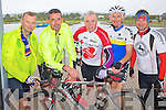 Cycling in the Heros week cycle from the Tralee Wetlands to Dingle on Sunday were From Left: Neilus Daly, John Culloty, Pirese Heaslip, Mike O'Callaghan and Jason Butt.