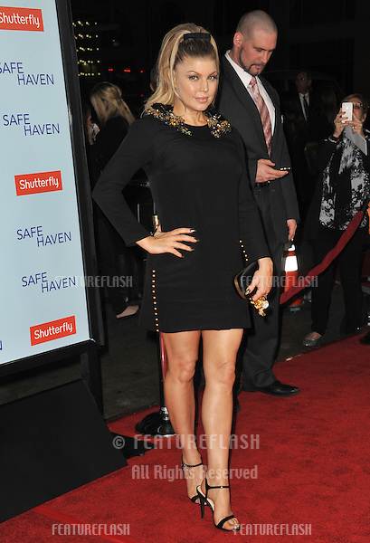 "Fergie, aka Stacy Ferguson, at the premiere of ""Safe Haven"" at the Chinese Theatre, Hollywood..February 5, 2013  Los Angeles, CA.Picture: Paul Smith / Featureflash"