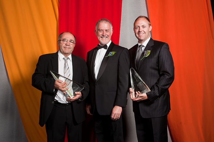 2010 Premiers Food Awards Dinner. Innovate SA Visionary Leader, Industry / Young, Taz Mitani,  Greg Boundy, Sam Tucker ( Young Leader)