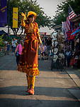 Cowgirl on stilts on the midway, opening day of the 80th Amador County Fair, Plymouth, Calif.<br /> .<br /> .<br /> .<br /> #AmadorCountyFair, #1SmallCounty Fair, #PlymouthCalifornia, #TourAmador, #VisitAmador