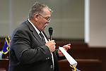 Nevada Sen. Pete Goicoechea, R-Eureka, works on the Senate floor at the Legislative Building in Carson City, Nev., on Thursday, April 9, 2015. <br /> Photo by Cathleen Allison