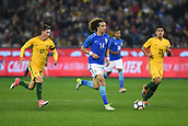 June 13th 2017, Melbourne Cricket Ground, Melbourne, Australia; International Football Friendly; Brazil versus Australia; David Luiz Marinho of Brazil breaks towards goal with the ball