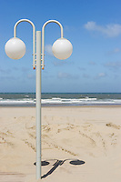A contemporary lamp on the beach
