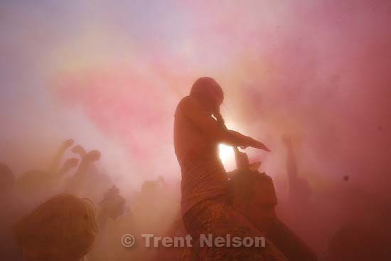 Spanish Fork - Spring was welcomed at the Hare Krishna Temple during Holi, The Festival of Colors Saturday March 28, 2009. Thousands gathered to throw colored powder into the air, signifying the joy and colors of spring arriving.