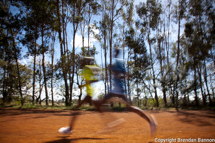 The Moi University training track. Untested amatuers train alongside olympic record holders at this modest sports track near Eldoret, Kenya.