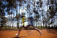 The Moi University training track. Untested amatuers train alongside olympic record holders at this modest sports track near Eldoret, Kenya.
