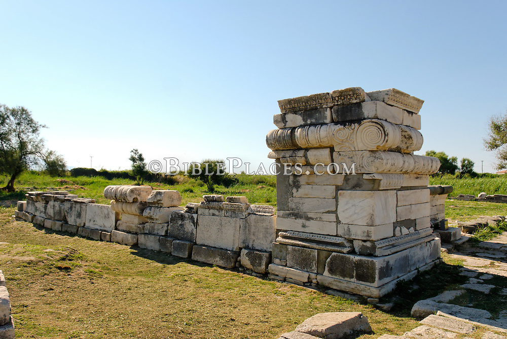 Samos Temple Of Hera Great Altar Tb061606960 Jpg Bibleplaces Com For Publishers