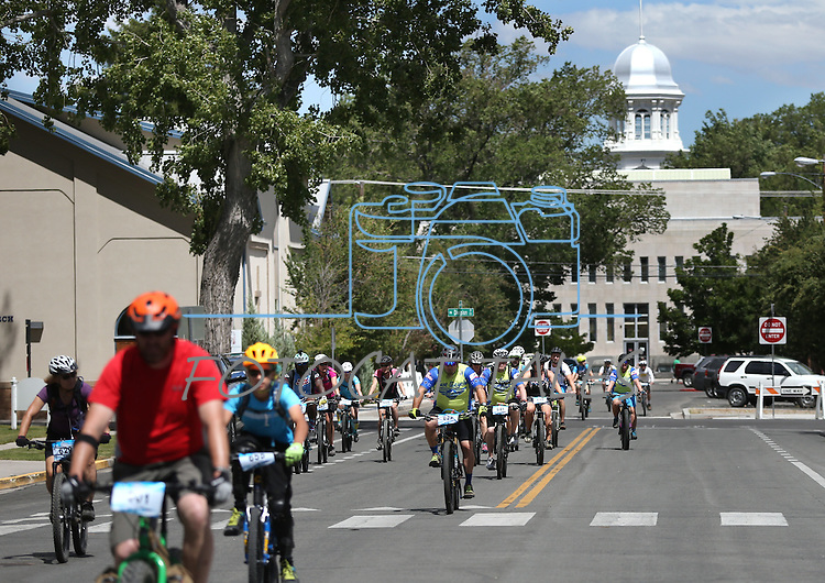 Riders participate in the Epic Rides Carson City Off-Road Capitol 15 Fun Ride in Carson City, Nev., on Friday, June 17, 2016.<br /> Photo by Cathleen Allison