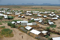 KENYA Turkana Region, refugee camp Kakuma, where 160.000 refugees from Somali, Ethiopia, South Sudan and other countries receive shelter and food from UNHCR, WFP and other NGO´s, new camp section Kakuma IV / KENIA, Fluechtlingslager Kakuma in der Turkana Region , hier werden ca. 160.000 Fluechtlinge aus Somalia, dem Sued Sudan, Aethiopien u.a. vom WFP, UNHCR und anderen NGO´s versorgt, neuer Lagerteil Kakuma IV