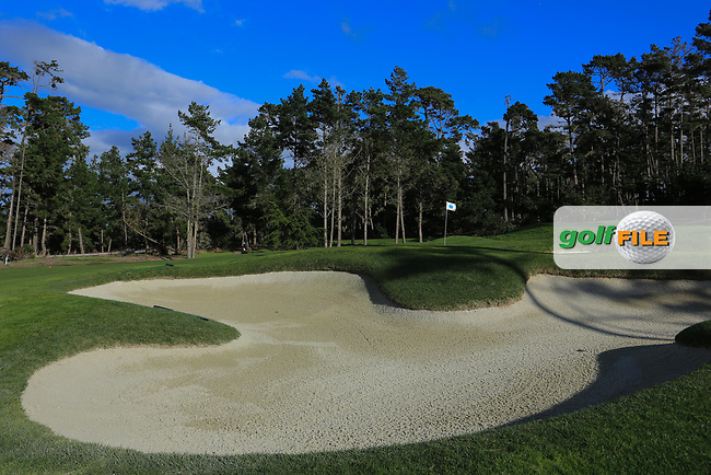 A general view of the 6th green, Spyglass Hill Golf Course during previews ahead of the AT&T Pro-Am, Pebble Beach Golf Links, Monterey, California, USA. 06/02/2019<br /> Picture: Golffile | Phil Inglis<br /> <br /> <br /> All photo usage must carry mandatory copyright credit (© Golffile | Phil Inglis)