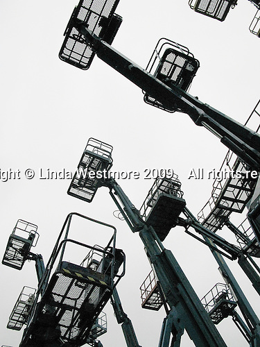 Cherry pickers or high access platforms.