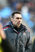 January 7th 2018, Ricoh Arena, Coventry, England;  Aviva Premiership rugby, Wasps versus Saracens;  Saracens defence coach Alex Sanderson spectates from the touchline during the Aviva Premiership round 13 match between Wasps and Saracens rfc at the Ricoh Stadium