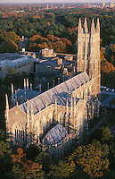 Chapel at Duke Univ, Durham, NC aerial