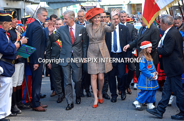 KING PHILIPPE AND QUEEN MATHILDE<br /> make their 'Joyous Entry' in Namur, Belgium_October 2, 2013.<br /> Mandatory Credit Photos:&copy;F.Andrieu/NEWSPIX INTERNATIONAL<br /> <br /> **ALL FEES PAYABLE TO: &quot;NEWSPIX INTERNATIONAL&quot;**<br /> <br /> PHOTO CREDIT MANDATORY!!: NEWSPIX INTERNATIONAL(Failure to credit will incur a surcharge of 100% of reproduction fees)<br /> <br /> IMMEDIATE CONFIRMATION OF USAGE REQUIRED:<br /> Newspix International, 31 Chinnery Hill, Bishop's Stortford, ENGLAND CM23 3PS<br /> Tel:+441279 324672  ; Fax: +441279656877<br /> Mobile:  0777568 1153<br /> e-mail: info@newspixinternational.co.uk