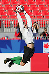 11 July 2007: USA goalkeeper Brian Perk, pregame. The Under-20 Men's National Team of the United States defeated Uruguay's Under-20 Men's National Team 2-1 after extra time in a  round of 16 match at the National Soccer Stadium (also known as BMO Field) in Toronto, Ontario, Canada during the FIFA U-20 World Cup Canada 2007 tournament.