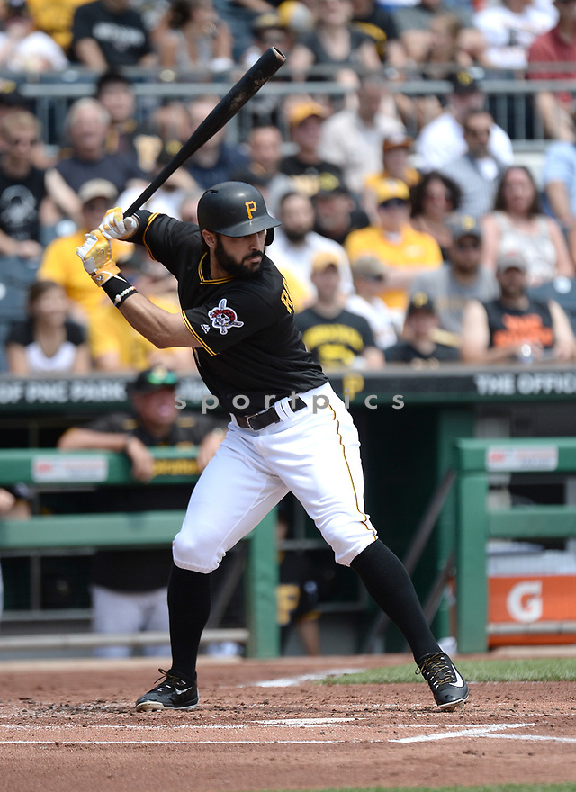 Pittsburgh Pirates Sean Rodriguez (3) during a game against the Los Angeles Dodgers on June 27, 2016 at PNC Park in Pittsburgh, PA. The Dodgers beat the Pirates 4-3.