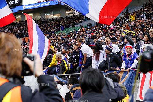 Thailand fans, <br /> MARCH 28, 2017 - Football / Soccer : <br /> FIFA World Cup Russia 2018 Asian Qualifier <br /> Final Round Group B <br /> between Japan 4-0 Thailand <br /> at Saitama Stadium 2002, Saitama, Japan. <br /> (Photo by Yohei Osada/AFLO)