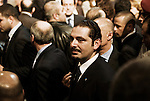 Saad Hariri, ancien premier ministre et leader du Courant du Futur, prend un bain de foule lors de la commémoration de l'assassinat de Rafic Hariri, au BIEL le 14 février 2011 - Saad Hariri, former prime minister and leader of the Movement of the Future, in the crowd during the commemoration of Rafik Hariri's assassination, at the BIEL, february 14, 2011.