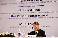 "Bill Gates, co-chair of the Bill and Melinda Gates Foundation (BMGF) speaks about Tuberculosis issues at the ""Maximising India's Capacity"" press briefing hosted by the Ministry of Science and Technology, Government of India in Le Meridien Hotel, New Delhi, India on 24th March 2011.."