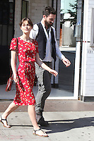 "Keira Knightley and Adam Levine on the set of ""Can a Song Save Your Life?"" in New York City. © RW/MediaPunch Inc. July 3, 2012. /*NORTEPHOTO.COM*<br />