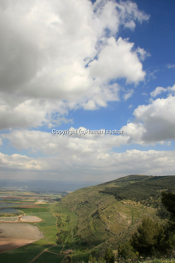 Israel, a view of Harod Valley from Mount Gilboa