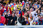 Solna 2014-10-09 Fotboll EM-kval , Sverige - Ryssland :  <br /> Rysslands supportrar &auml;r glada innan matchen mellan  Sverige och Ryssland<br /> (Photo: Kenta J&ouml;nsson) Keywords:  Sweden Sverige Friends Arena EM Kval EM-kval UEFA Euro European 2016 Qualifier Qualifiers Qualifying Group Grupp G Ryssland Russia supporter fans publik supporters