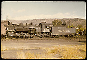 D&amp;RGW #480 K-36 - roundhouse in background.<br /> D&amp;RGW  Durango, CO