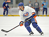 Jordan Eberle #7, New York Islanders newly-acquired center, practices during team training camp at Northwell Health Ice Center in East Meadow on Friday, Sept. 15, 2017.